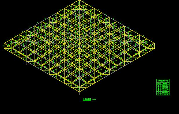 3D3S四坡钢结构网架屋面设计建模计算  3D3S 3D3S设计 网架设计 四坡屋面 四坡网架屋面设计 第2张