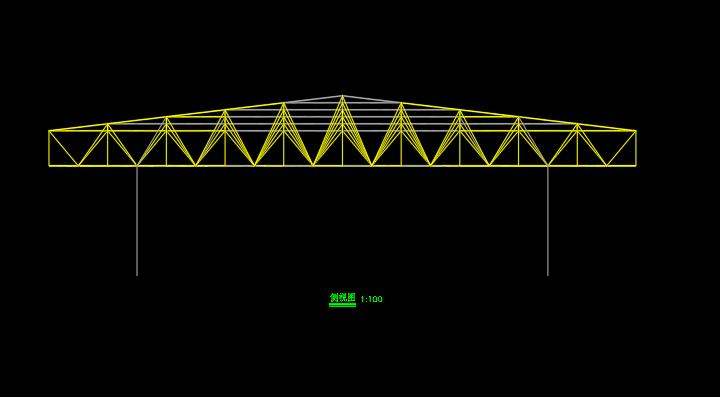 3D3S四坡钢结构网架屋面设计建模计算  3D3S 3D3S设计 网架设计 四坡屋面 四坡网架屋面设计 第3张